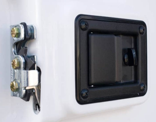 Heavy-duty door latches come standard on all Tufports.